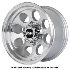 Pelek Offroad ring 15 tipe DUFFY JT84 HSR R15X8 H6X139,7 ET-10 SMFL