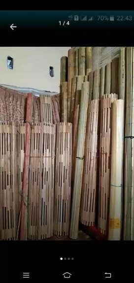 Jual Tirai rotan enao dan kulit bambu dan isi bambub