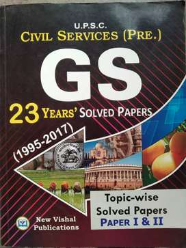 UPSC civil services pre GS 23 years Solved Papers