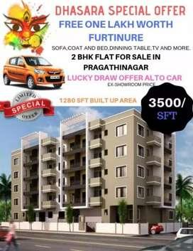 Flats for sale in pragathinagar shimhapuri colony.
