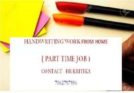 Handwriting job ( Home based job)