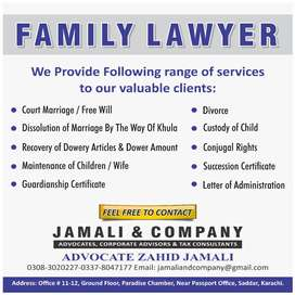 Family Lawyer, Khula,divorce,court marriage,succession certificate