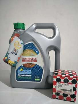 Paket Oli Daihatsu 5W30 3.5 Liter + Filter Oli