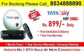 Festival Offer! New DTH Tata Sky Box Tatasky Airtel Tv DishTV Book Now