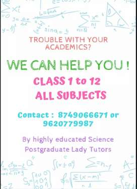 Excellent Home tutions by PG tutors for all subjects