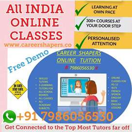 Online Tuition 1-12th / Home Tutors Avail, Experienced,free demo class