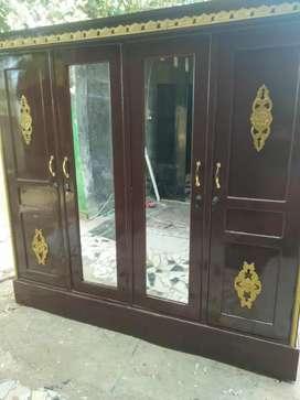 lemari 4 pintu baru full kayu jati