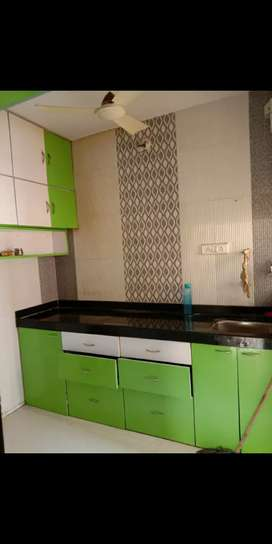 2 BHK Semi Furnished Flat Ulwe Sector 9 Modular Kitchen