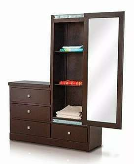 New modern dressing table 4drawers with slide mirror in best quality