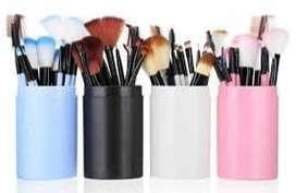 make up brush 12 set in tube/ kuas rias make up 12 set -