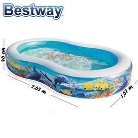 Kolam Renang Anak Bestway Ukuran 2.62 m x 1.57 m x 46 cm Angka 8 Besar