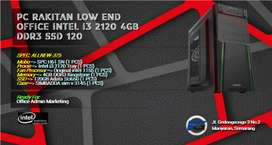 READY YA, PC RAKITAN OFFICE LOW BUDGET I3 2120 | 4GB RAM | SSD 120GB