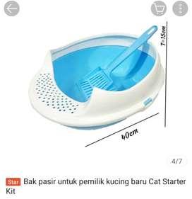 Bak pasir untuk pemilik kucing baru Cat Starter Kit