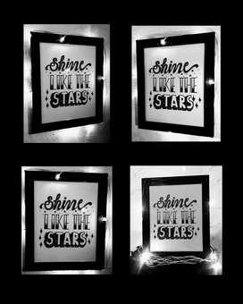 Handmade doodle frames