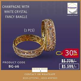 Fancy bangles in Gold plated