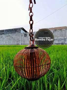 Cup lampu bambu