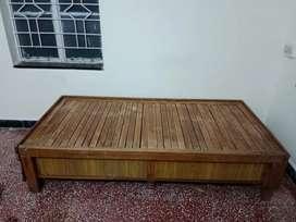 Teak wood expandable bed