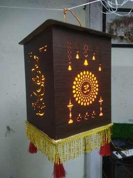 Eco friendly foldable MDF kaandils (lantern)
