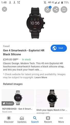 Fossil gen4 smart watch