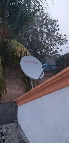 Parabola mini TV lokal lengkap ada RCTI dan Film Kartun
