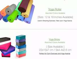 Yoga products available for gents , ladies , kids