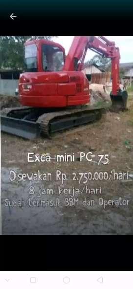 Disewakan Excavator Komatsu PC 75