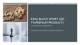 King Black( Premium LED Tv ) 2 year warranty with bill new