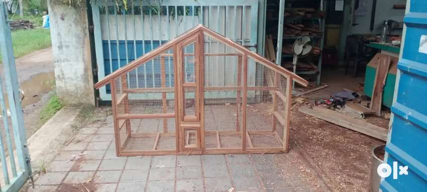 Wooden birds cage