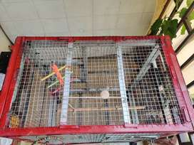 Birds cage 4x5x3 ft dimension.very we'll build.