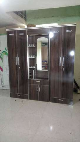 Brand new 5 door wardrobe with mirror at very less price
