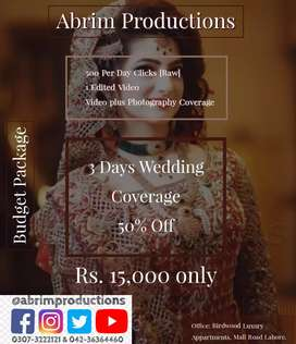 Wedding Photography Videography & Drone Coverage. No. 1 Team in Lahore
