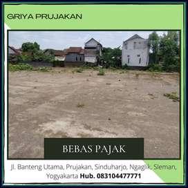 Paling MURAH Siap Bangun Barat Jl Kaliurang Hak Milik, Free BBN