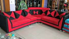 brand new designer red and black sofa