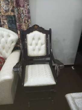 Rocking chair with rocking stool