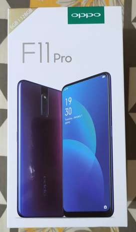 Oppo F11 Pro with accessories and Box.