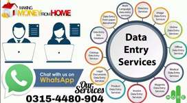 Home based data entry working job for everyone in Pakistan.