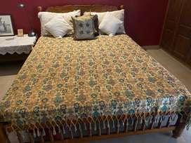 Teak wood Bed Queen Size