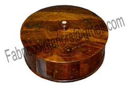 Hot Pot With Carving and Copper Etching...Pure Wood Made