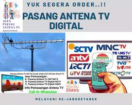 Instalasi Antena & Parabola Pasang Baru Antena Tv Digital Free Kabel