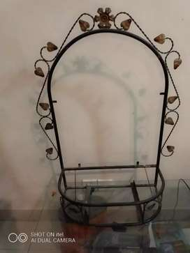 Wall Mirror frame console iron w/o mirror, drawer and shelf glass