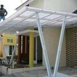 Pemasangan canopy atap transparan