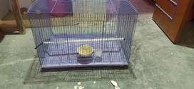 Cage for birds with tray