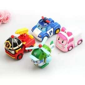 Mainan Mobil Robocar Polli 4 pcs
