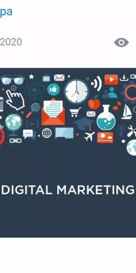 Digital marketing manage experience person .
