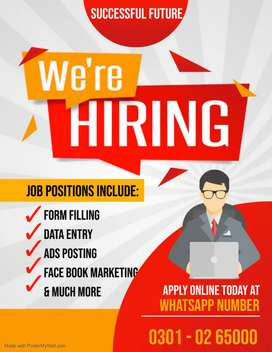 We are providing you best opportunity of Data Entry online job