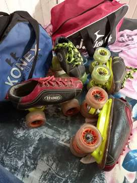 Roller skating all ok and work properly no any defect