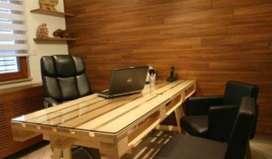 Meja Kerja Kayu Pinus Jati Belanda Trembesi Murah di Surabaya