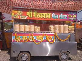 Food cart bhel gada.