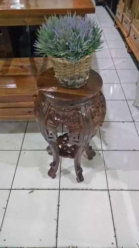 meja vas bunga kayu jati lokasi barkas gejayan