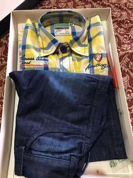 Trendy New shirt & shorts set for 1 to 1.5yr old boy